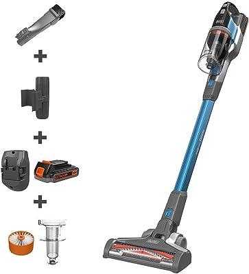 BLACK+DECKER BSV2020G POWERSERIES Extreme Cordless Stick Vacuum Cleaner, Blue (Renewed)