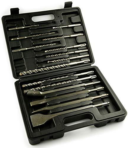 Novotools Sds Plus Steinbohrer Und Stahl-Set, Hohe Schnittgeschwindigkeiten, Größerer Schärferer Spitzenwinkel Bohrer-Werkzeugsatz - (15 Stück)