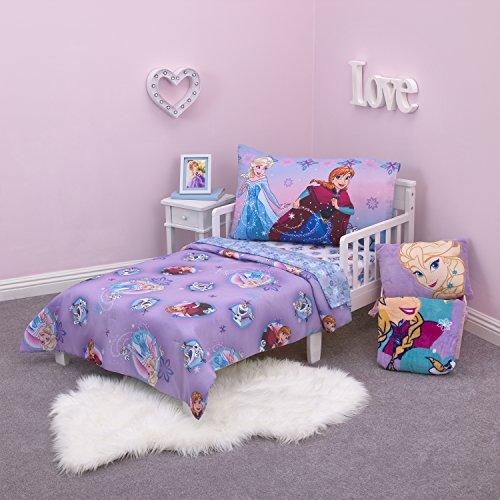Disney La Reine des neiges remuer jusqu'à Fun 4 pièces Parure de lit pour enfant, Violet/rose/multicolore
