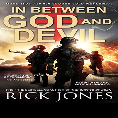 In Between God and Devil audiobook cover art