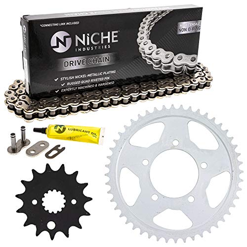 NICHE Drive Sprocket Chain Combo for Suzuki Marauder 800 VZ800 Front 15 Rear 48 Tooth 530HZ Standard 116 Links