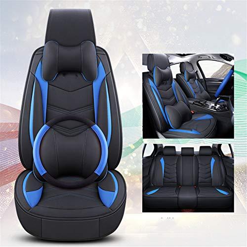 XHJZ-W Auto-Sitzabdeckung Kissen PU-Leder, vorne hinten Full Set Autositzbezüge für 5 Sitze Fahrzeug geeignet für Four Season Verwenden,B