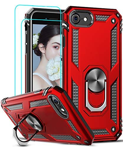 LeYi Funda iPhone SE 2020 con [2-Unidades] Cristal Vidrio Templado,Armor Carcasa con...