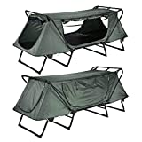 Portable One Person 14' Elevated Sleeping Platform Foldable Waterproof Single Tent Cot Outdoor Camping