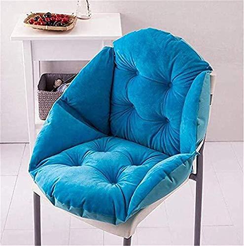 Nicole Knupfer Sitzkissen Stuhlauflage Kissen Stuhlkissen Auflage Sitzauflage Gartenstuhlkissen mit abnehmbarem Kopfpolster (Himmelblau,48 * 40cm)
