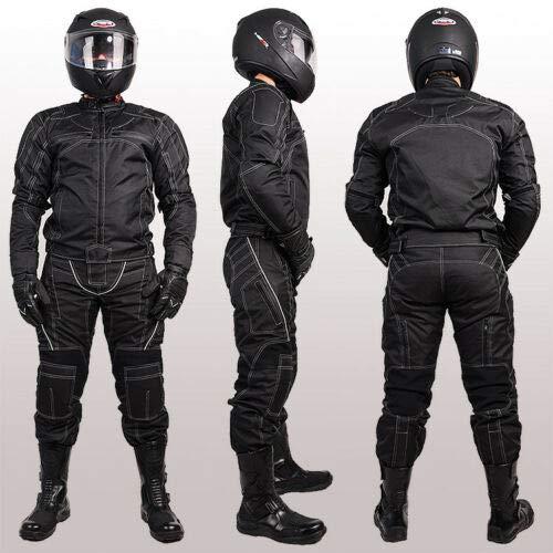 MOTORRADKOMBI JACKE + HOSE – AUS TEXTIL /CORDURA für Motorrad Biker Chopper Cross - 3