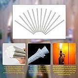 12 Piezas de Mechas de Fibra de Vidrio de Repuesto Mechas de Antorcha Tiki Mecha de Lámpara de Aceite para Iluminación de Patio de Jardín Linternas Al Aire Libre