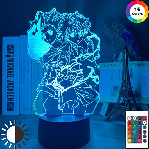 3D Tischlampe Anime HUNTER x HUNTER Gon und Killua Figur Nachtlicht Kinderzimmer DekorationFans Geschenk Kinder Led Nachtlicht Licht