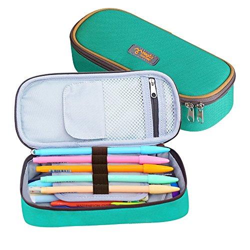 Pencil Case, LOYMR Student Pen Pencil Case Desktop Office Storage Organizer Pen Pencil Holder Organizer Basket Coin Purse Pouch Cosmetic Makeup Bag(Green)