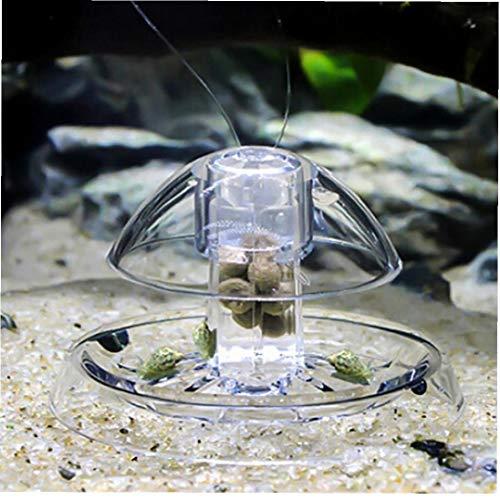 Amoyer Aquarium Kunststoff Klar Schneckenfalle Catcher Fish Tank Wurm Fangen Box-behälter-reinigungs-Tools Luftloch