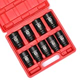 Get MIXPOWER 1/2- Inch Drive Deep Impact Socket Set, 6 Point, CR-MO, Metric, 29mm-38mm, 9-Piece 1/2
