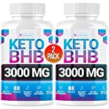 Keto Pills - (2 Pack | 120 Capsules) - 5X Potent - Advanced Keto Burn Diet Pills - Best Exogenous Ketones BHB Supplement for Women and Men - Boost Energy and Metabolism - 100% Vegan