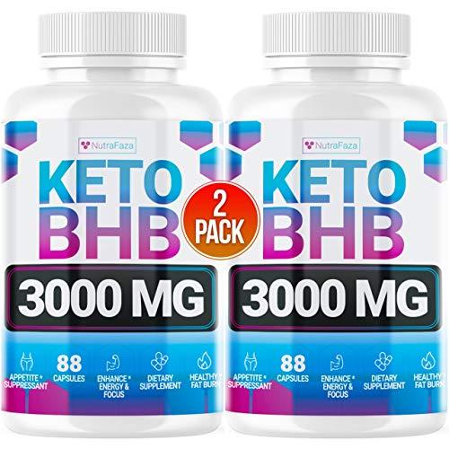 Keto Pills - (2 Pack | 120 Capsules) - 5X Potent - Advanced Keto Burn Diet Pills - Best Exogenous Ketones BHB Supplement for Women and Men - Boost Energy and Metabolism - 100% Vegan