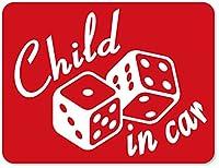 imoninn CHILD in car ステッカー 【マグネットタイプ】 No.30 ダイス (赤色)