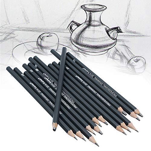 NIUPAN 14 Stuks/Set Schetsen en Tekenen Schrijfpotloden Briefpapier Benodigdheden 3B Potloden  Standaard potloden