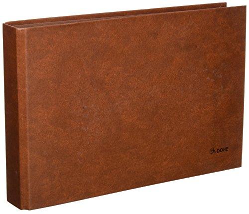 Dohe 9566 - Carpeta cuero forrado, 2 anillas de 25 mm, cuarto apaisado