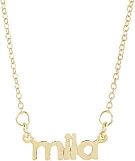 Brook & York Custom Nameplate Necklace Mini Name Choker - with Your Name (16