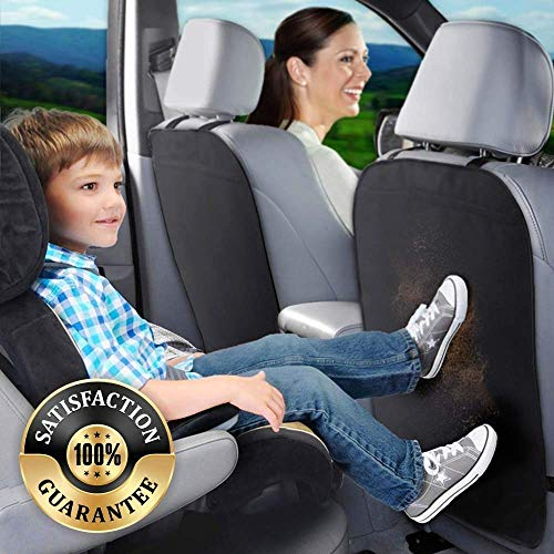 RED SHIELD Kick Mats Car Back Seat Protector, Set of 2, Child Kick Guard Mat Seat Cover, Protects Leather & Cloth Seats from Dirt Scuffs & Scratches, Suitable for Sedan Truck & SUV, Easy Installation