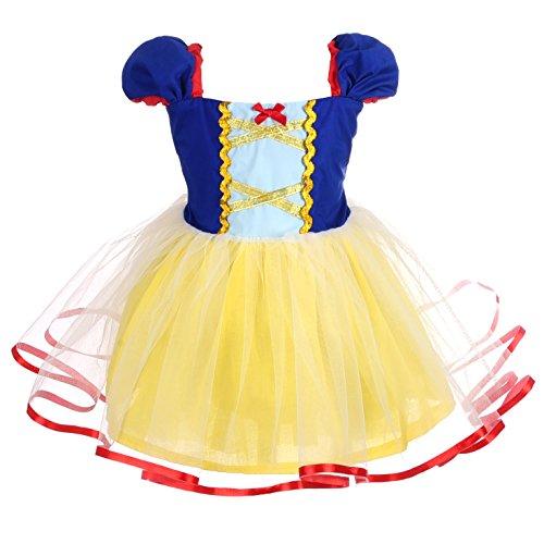 Lito Angels Disfraz de Princesa Blancanieves para Bebé Niñas Vestido de Fiesta de Cumpleaños Halloween Carnaval Falda de Tul Ropa de Verano Casual Talla 18 a 24 Meses 102
