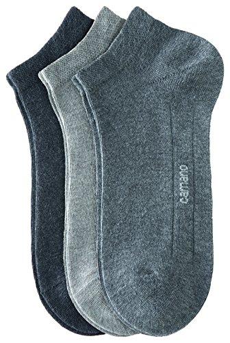 Camano Unisex - Erwachsene Sneakersöckchen 9-er Pack, 3003 - grau Kombi - 47-49