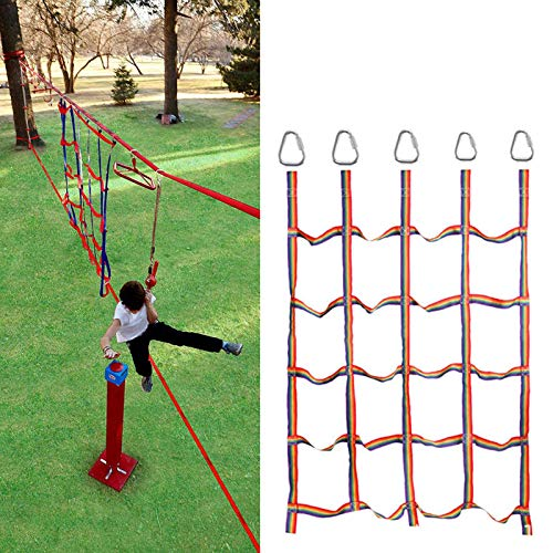 Daybreak Climbing Frames | Children Climbing Net with 5 Triangle Hooks | Children Climbing Cargo Net Outdoor/Indoor Heavy Duty Climbing Net for Kids Outdoors Garden Play | 145X185cm