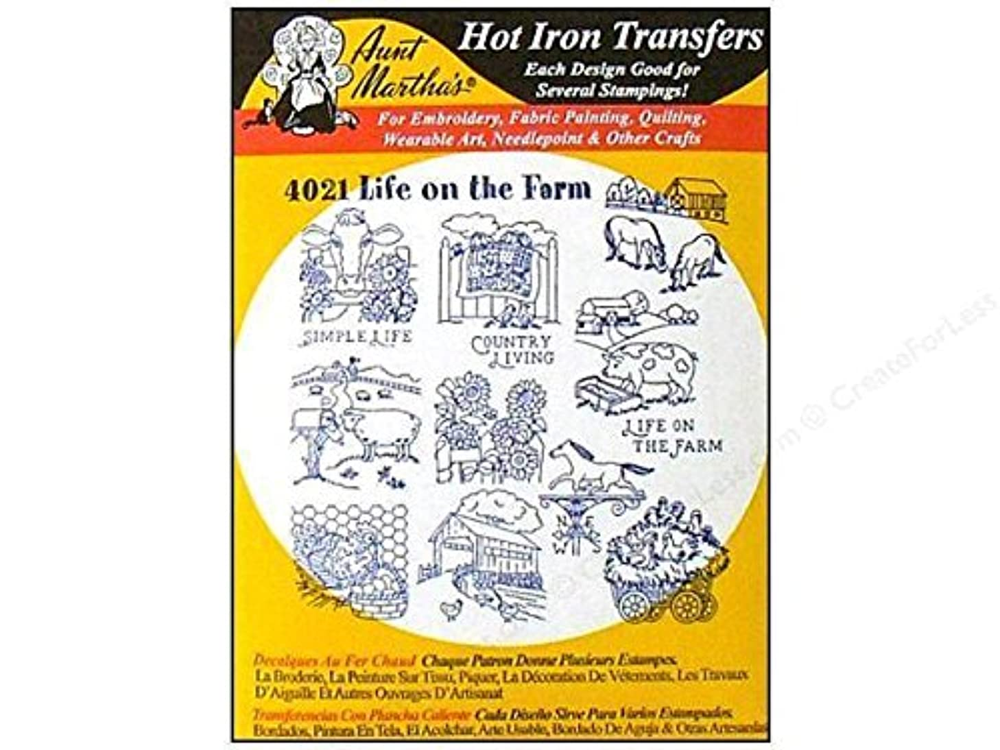 4021 Aunt Martha's Hot Iron On Transfers LIFE ON THE FARM by_alleycat32
