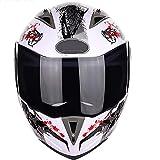 LKOP Motocicleta Dual Visor Flip Up Modular Face Face Motorbike Helmet Dot/ECE Aprobado para La Locomotora Bicicleta Scooter Karting Racing Skiing Etc Protección De Seg D-XXL