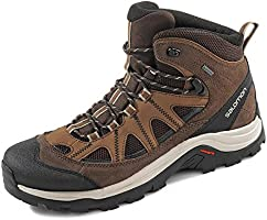 Salomon Mäns autentiska Ltr Gtx spårskor, Svart Black Coffee Chocolate Brown Vintag - 43 1/3 EU