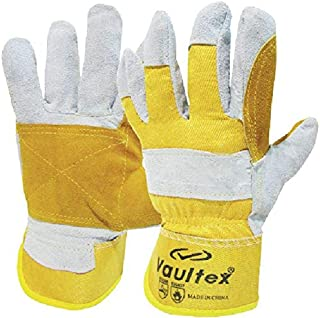 Double Palm Leather Gloves (DPY) - Vaultex (12 Pairs)