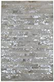 Matador Leather Hair-On Hide Rug, 5 by 8-Feet, White