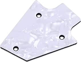 BQLZR White Pearl Truss Rod Cover Replacement with 3 Holes for Electric Guitar