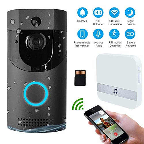 M-TOP Citofono Bticino Esterno Videocitofono Senza Fili Wireless Campanello da Esterno Impermeabile 720P HD WiFi con Audio Bidirezionale,PIR Rilevazione del Movimento,Visione Notturnablack A