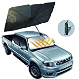 Car Windshield Sun Shade Umbrella, Foldable Car Umbrella Sunshade Cover Protect Vehicle from UV Sun and Heat, 57'' x 31'', Fit Most Vehicle
