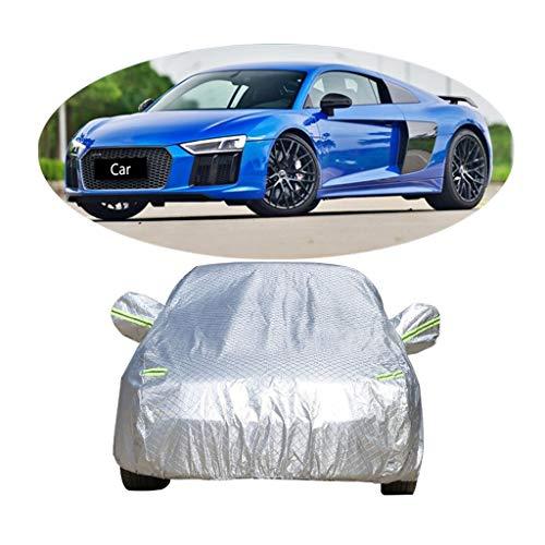 Couverture de voiture Compatible avec la couverture de voiture de sport Audi R8 épaississant la couverture de voiture de vêtements de protection solaire de protection contre la poussière de voiture an