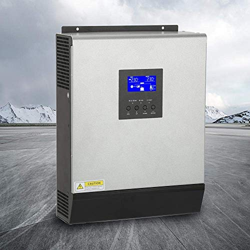 Pbzydu Solar Hybrid Inverter with Solar Controller, 3KVA 2400W High Frequency Hybrid Pure Sine Wave Inverter Built in Solar Controller 50A 24V