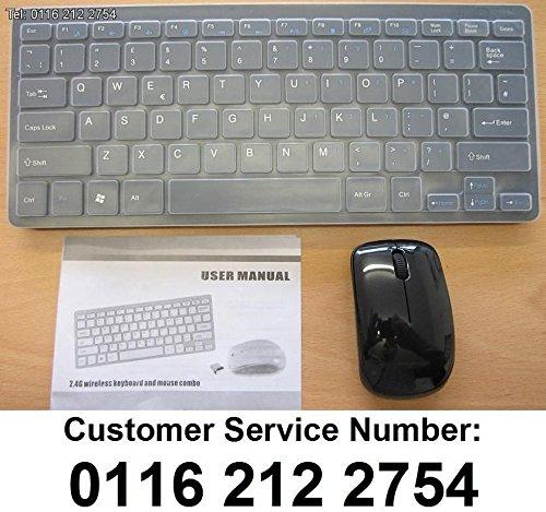 Negro Wireless Mini teclado y ratón para LG 47LA740 V-ZB Smart TV: Amazon.es: Electrónica