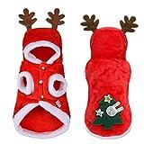 Zonfer Cani di Piccola Taglia Natale Vestiti del Cane Costume della Santa per Il Pug Chihuahua Yorkshire del Gatto 'Animale Domestico Casacca Animali Costume