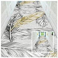 CnCnCn 3D 玄関マット ギャラリー 入り口 滑り止めパッド フロアマット リビングルーム キッチン カーペット ランナー エリアラグ (Color : A, Size : 0.9x1.8m)