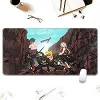 ゲーミングマウスパッド、大きなマウスパッド NA-RUTO SASUKEマウスパッド長方形滑り止めゴム電子スポーツ特大サイズの大きなマウスパッドゲーム専用、ラップトップコンピュータPC-A_700x300x3mm