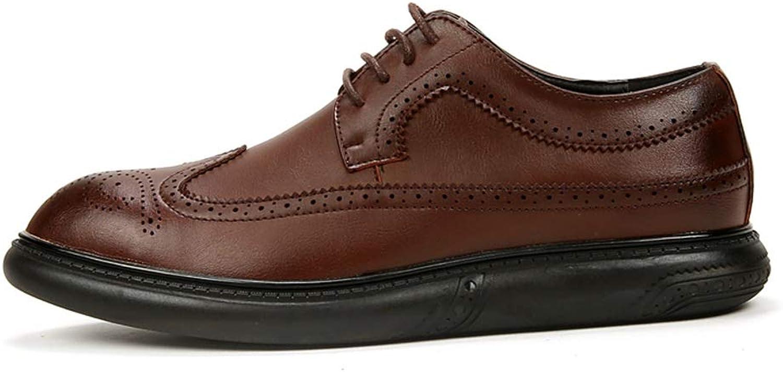Yajie-schuhe, Herrenmode Klassische schnüren einfarbig Brogue Schuhe Business Oxford lässig lässig lässig (Farbe   Braun, Größe   43 EU)  e1087a