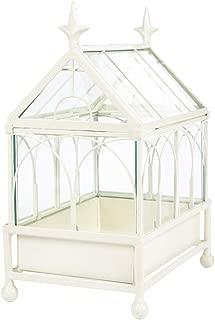 H Potter Glass Terrarium Succulent Planter Wardian Case Plant Container Metal Tabletop Off White