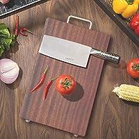 有機木材まぐさ板、塗装されていないワックス不要の家庭用まな板、無垢材、滑り止め、割れにくい、キッチン家庭用、カビ-40*27*3cm