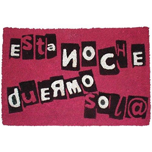 koko doormats Felpudo con Diseño Duermo, PVC, Coco, 60 x 40 cm