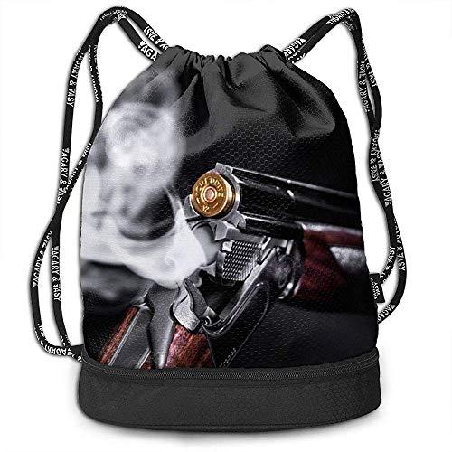 Archiba Kordelzug Rucksack Mit Tasche Multifunktionale Robuste Bullet Smoke Foto Sackpack Sport Gym Umhängetaschen