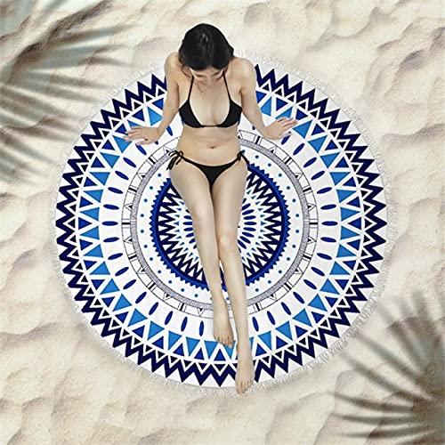 IAMZHL Toalla de baño de Microfibra de Secado rápido para natación Redonda de Verano Toalla de Playa para Nadar Toalla Deportiva Grande Toalla de baño de Cuerpo Completo 150x150CM-a3-150x150cm