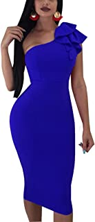 Best one shoulder ruffle dress in faille Reviews