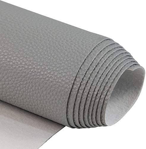 Soft Synthetic PU Fabric Material Faux Leather Sheets 1 Yards 54 x 36 0 95mm Thick for Upholstery product image