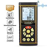 Telemetro Laser Distanziometro Classico, HD40 in M/In/Ft con Bolle d'aria e Funzione Muto,...