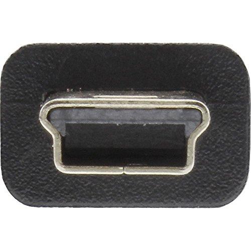 InLine 33107 USB 2.0 Mini-Kabel, USB A Stecker an Mini-B Stecker (5pol.), schwarz, 2m