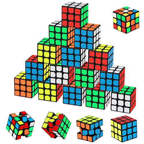 Mini Cube Puzzle Party Favors for Kids, Libay 20 Pack Magic Cube Party Puzzle Game Toys Classroom Rewards and School Prize for Students, Stress Relief Toys Giveaway Goody Bag Filler Birthday Gift